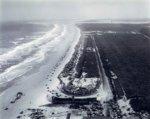 Daytona_Beach_1955, The old Daytona racecourse ran partly along the sandy beach and partly alo...jpg